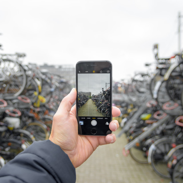 """""""Looking for a Bike?"""" stock image"""
