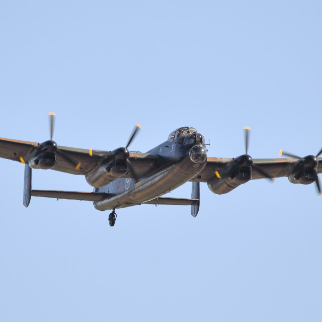 """Lancaster Bomber PA474"" stock image"