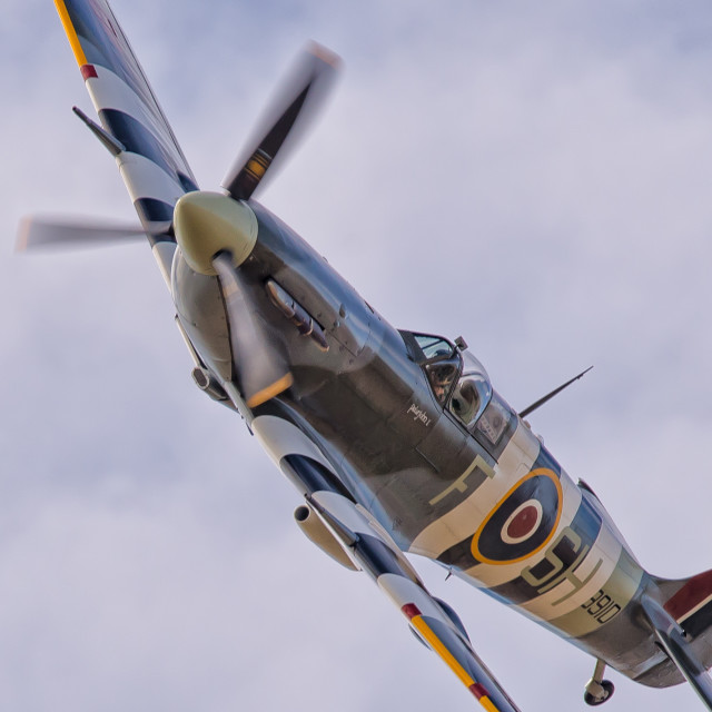 """Spitfire AB910 of the BBMF"" stock image"