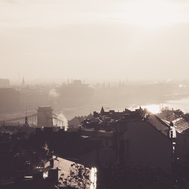"""""""The view of Budapest"""" stock image"""