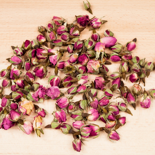 """Dried roses and buds"" stock image"