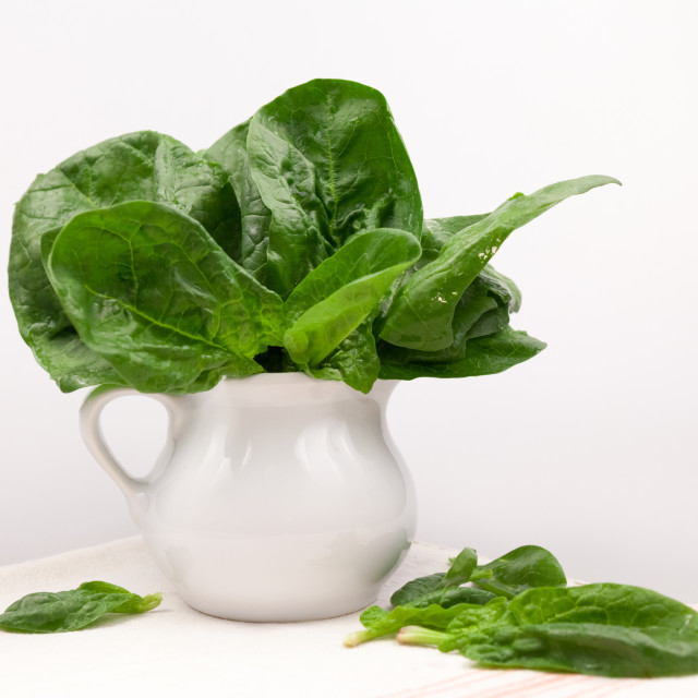 """Fresh spinach leaves"" stock image"