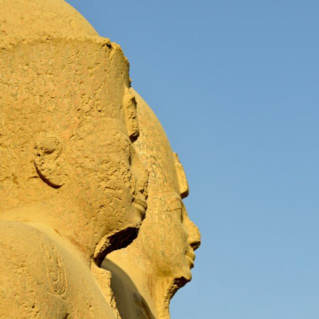 """Colossal Statues, Karnak Temple, Egypt"" stock image"