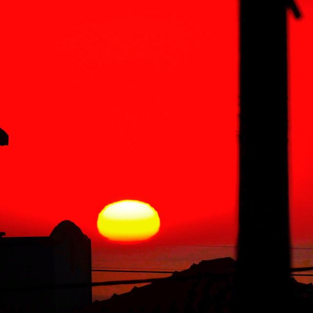 """Algarve Sunset"" stock image"
