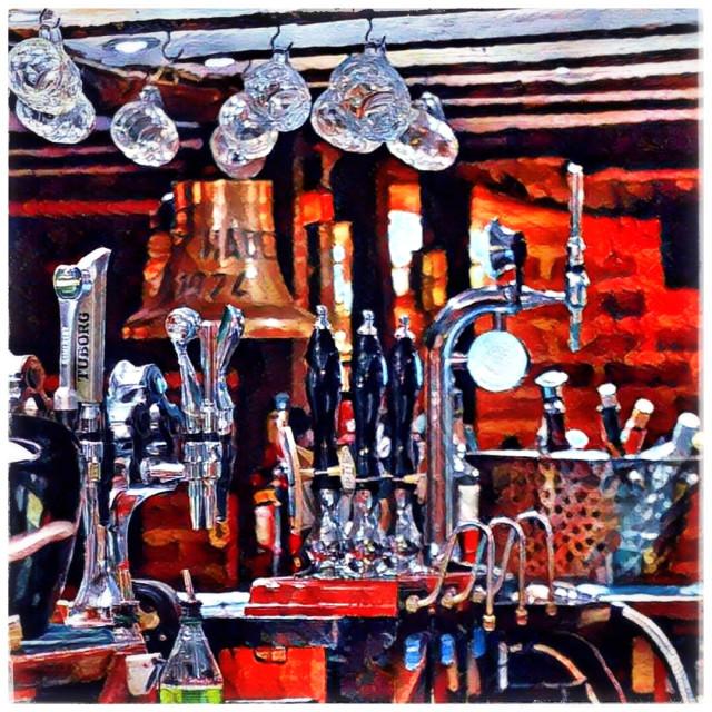 """English Pub Bar"" stock image"