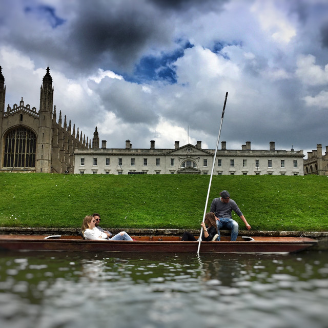 """Punting on the River Cam"" stock image"