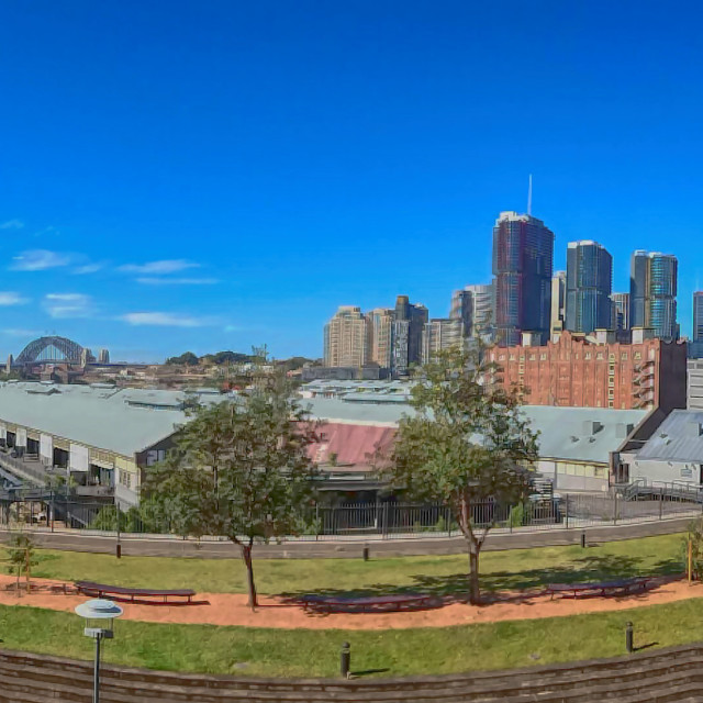 """Sydney Harbour Panorama"" stock image"