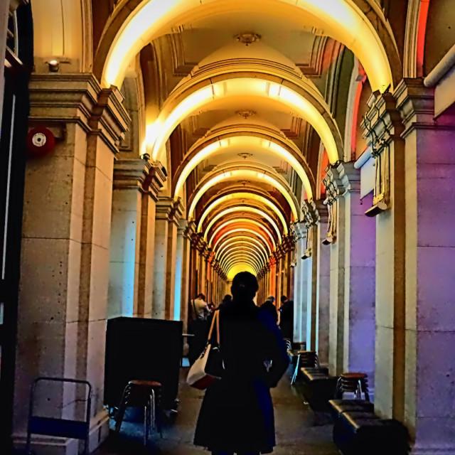 """""""Radiant Corridor"""" stock image"""