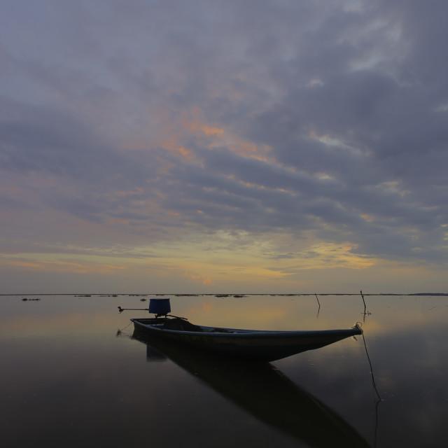 """""""sunrise at Jubakar Pantai beach, Tumpat Kelantan"""" stock image"""