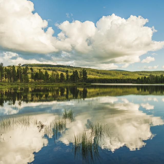 """Random lake somewhere in Lapland"" stock image"