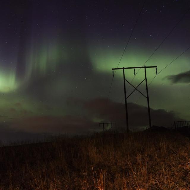 """Northen electiric lights"" stock image"