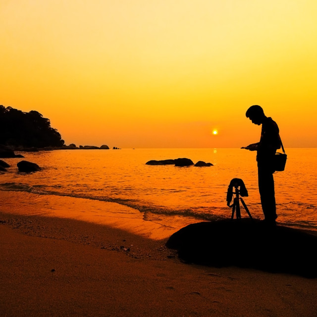 """""""Photography at the beach"""" stock image"""