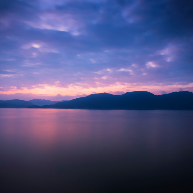 """""""Lake Taiping's twilight"""" stock image"""