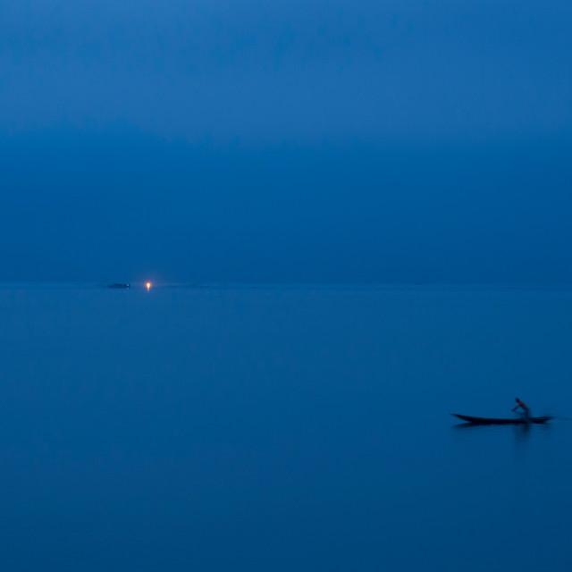 """Dawn Fishing"" stock image"