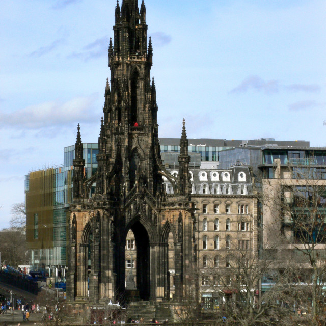 """Scott Monument, Edinburgh, Scotland"" stock image"