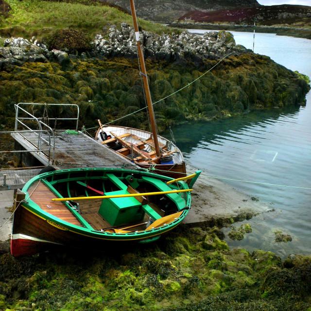 """Grimsay, North Uist, Scotland"" stock image"