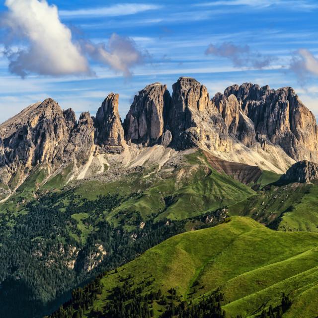 """""""Dolomiti - Sassolungo -Langkofel mount"""" stock image"""