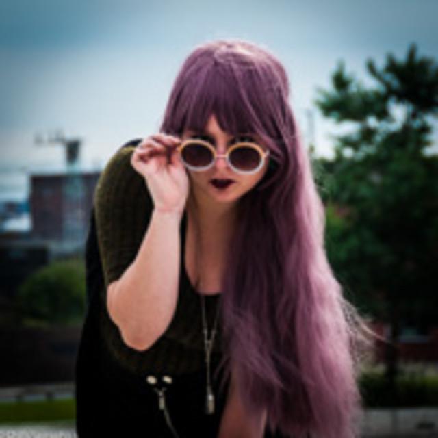 """Retro Hippy Chick in Birmingham"" stock image"