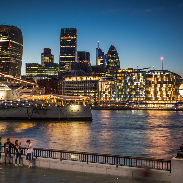 """""""Summer by the River Thames"""" stock image"""