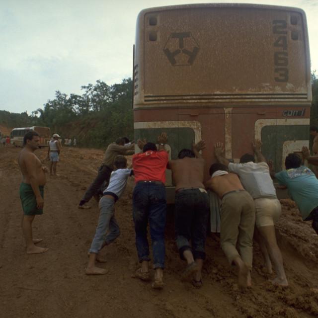 """Trans-Amazonian Highway, Brazil"" stock image"