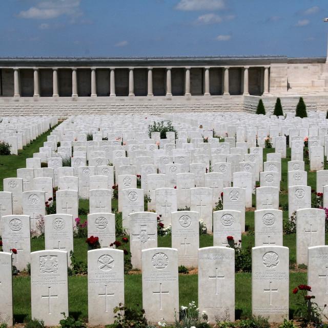 """Pozieres British Cemetery"" stock image"