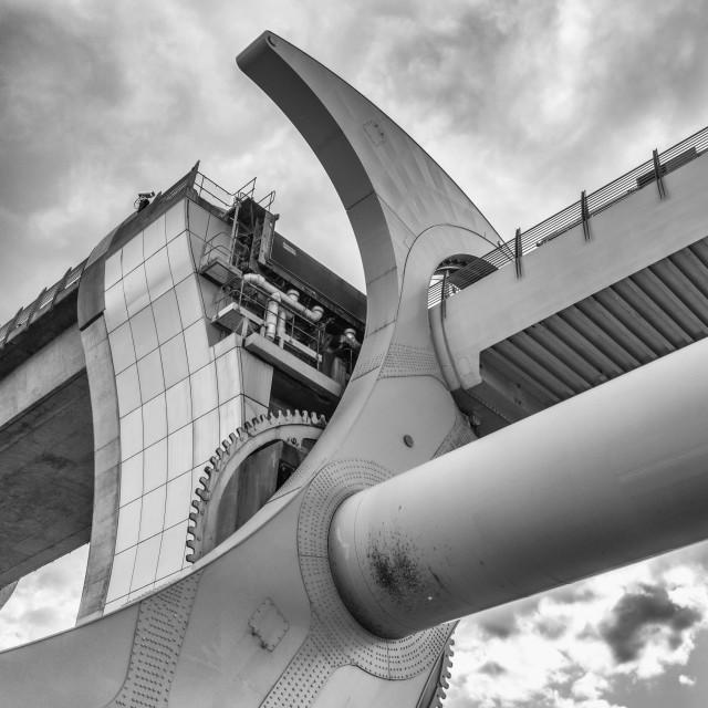 """The Falkirk Wheel boat lift, Falkirk, Scotland, UK"" stock image"