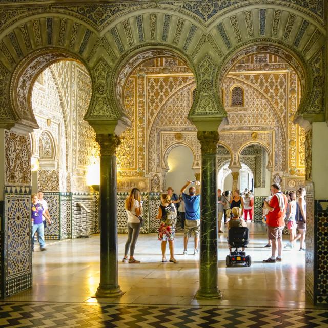 """""""Alcázar palace, Seville"""" stock image"""