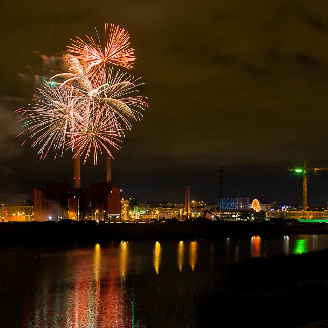 """Fireworks in Helsinki, Finland"" stock image"