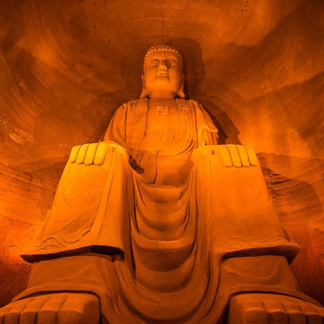 """""""Sitting Budda at Leshan"""" stock image"""