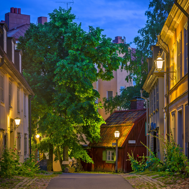 """""""Pillory Square, Stockholm, Sweden."""" stock image"""
