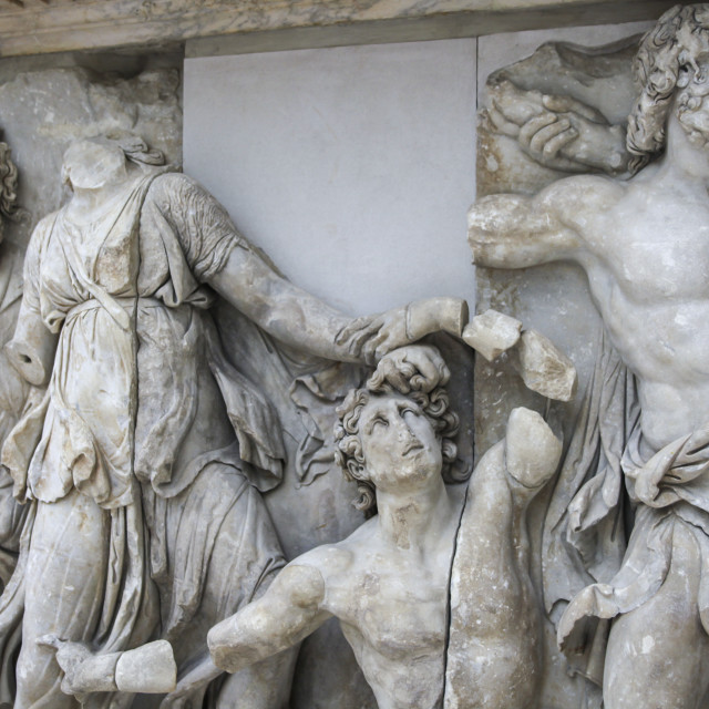 """Detail Pergamon altar in marble"" stock image"