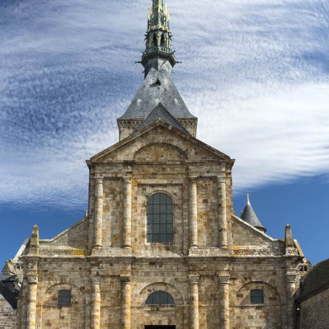 """""""Le Mont Saint-Michel Church"""" stock image"""