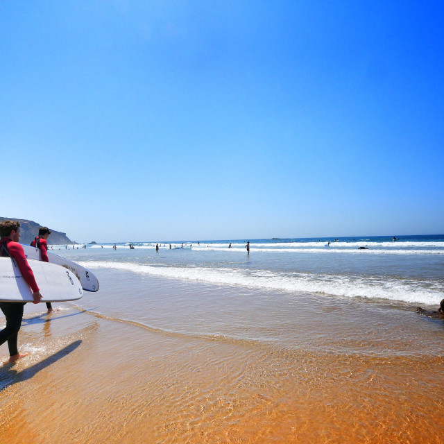 """""""Heading to surf"""" stock image"""
