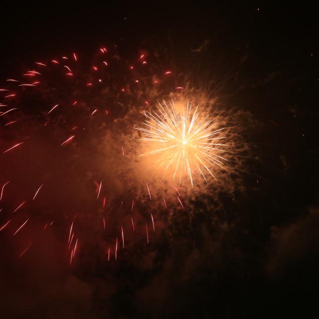 """""""Supernova fireworks"""" stock image"""