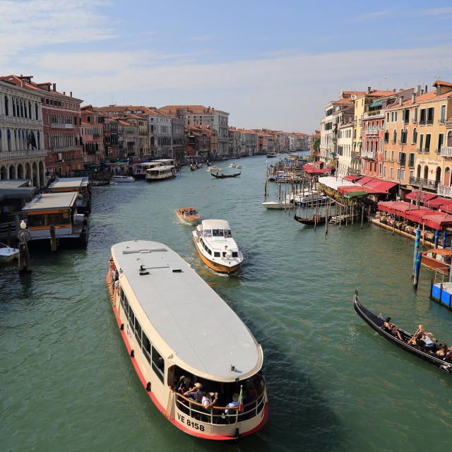 """""""Italy - trafic in Venazia"""" stock image"""