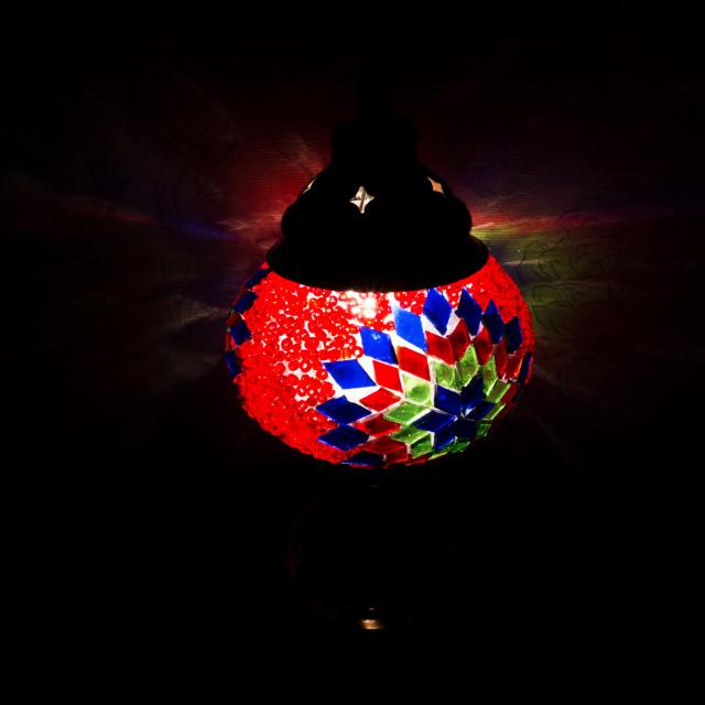 """""""Red Turkish lamp"""" stock image"""