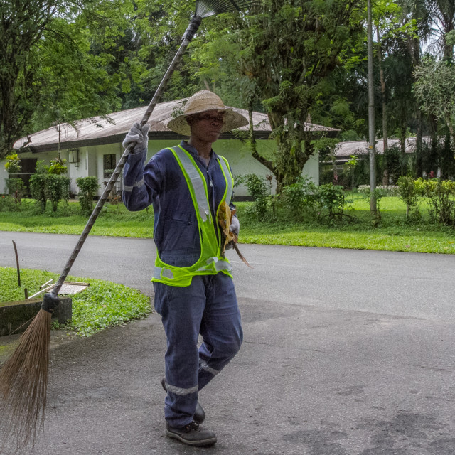 """Road sweeper"" stock image"