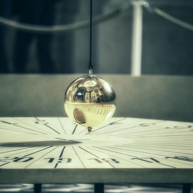 """Foucaults pendulum"" stock image"