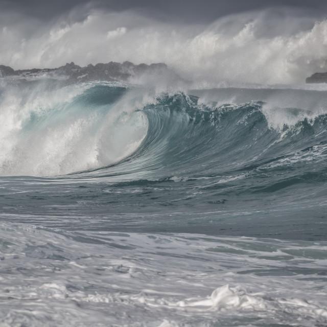 """Waimea Beach scene"" stock image"
