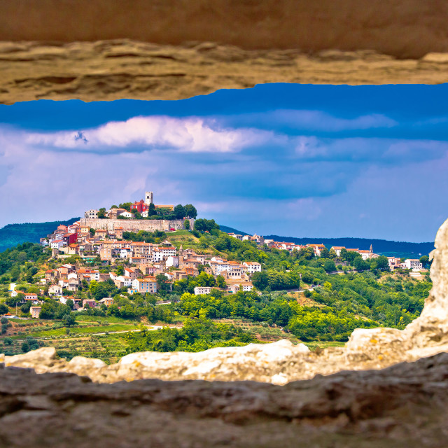 """Town of Motovun on pictoresque hill of Istria"" stock image"