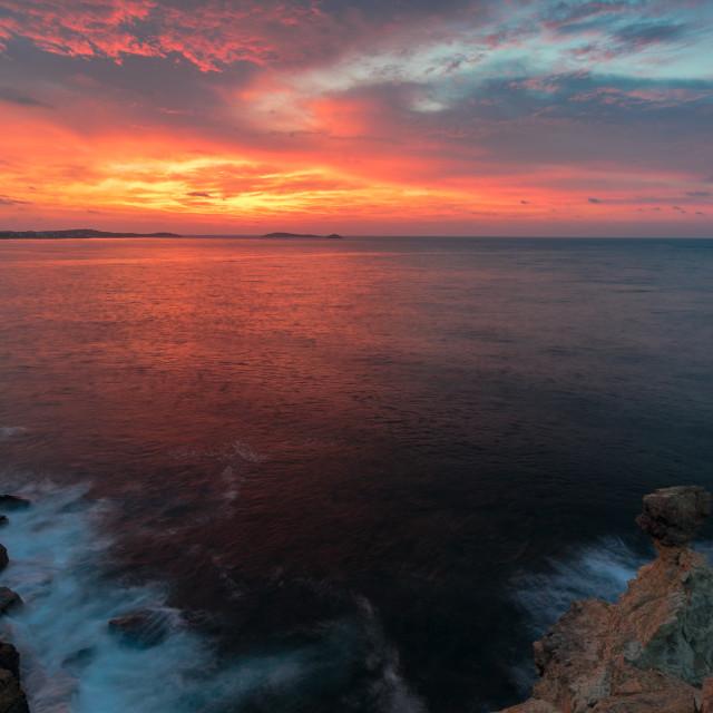 """""""Balearic Sunrise"""" stock image"""