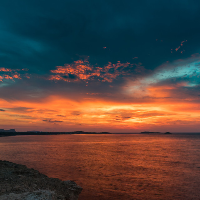 """""""Balearic Sunrise 2"""" stock image"""