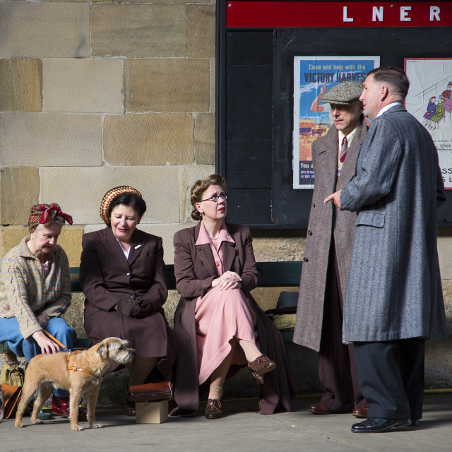 """The Station 1940's colour"" stock image"