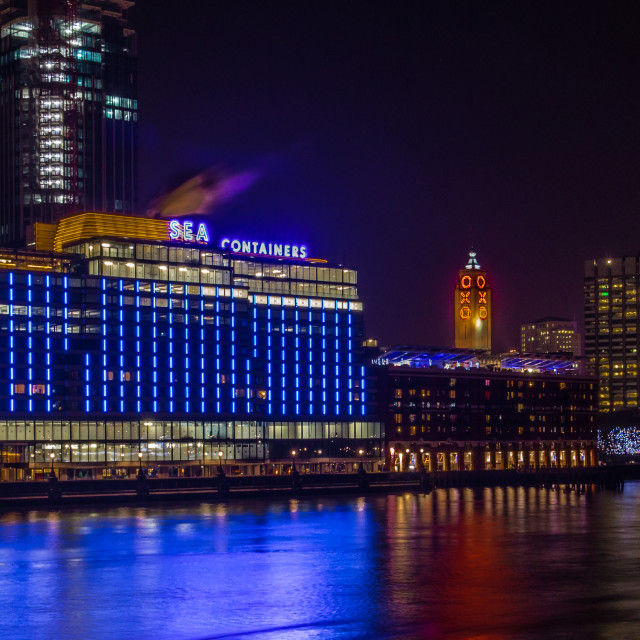 """""""Sea Containers, Oxo & London Eye"""" stock image"""