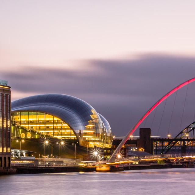 """""""Tyne Bridges, Sage & Baltic"""" stock image"""