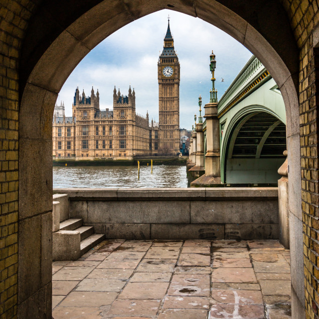 """""""Westminster & Big Ben through the Arch"""" stock image"""