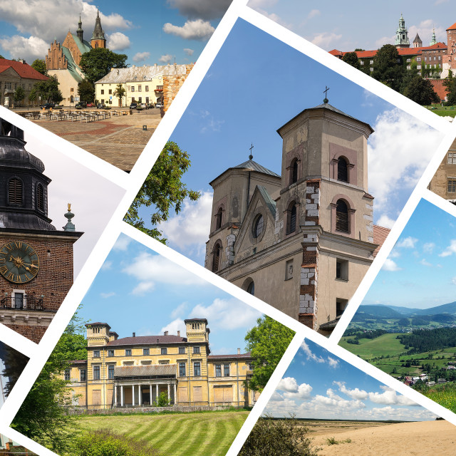 """""""Collage of Poland images"""" stock image"""