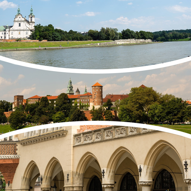"""""""Collage of Krakow images (Poland)"""" stock image"""