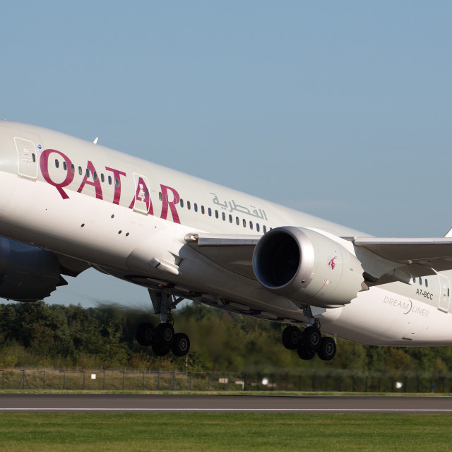 """00072 Qatar Airways 787-8 Dreamliner"" stock image"