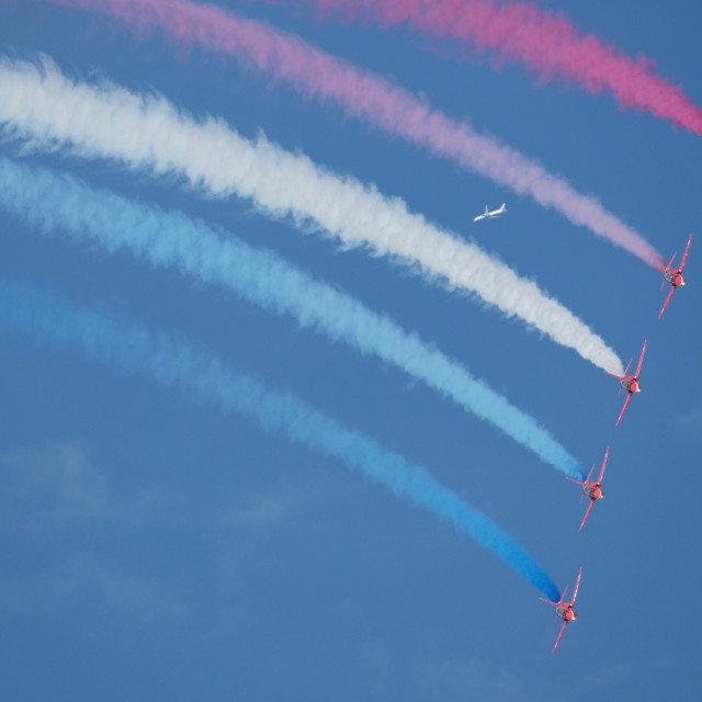 """""""00072 The Red Arrows"""" stock image"""